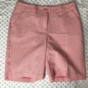 EP Pro Pink and White Striped Shorts